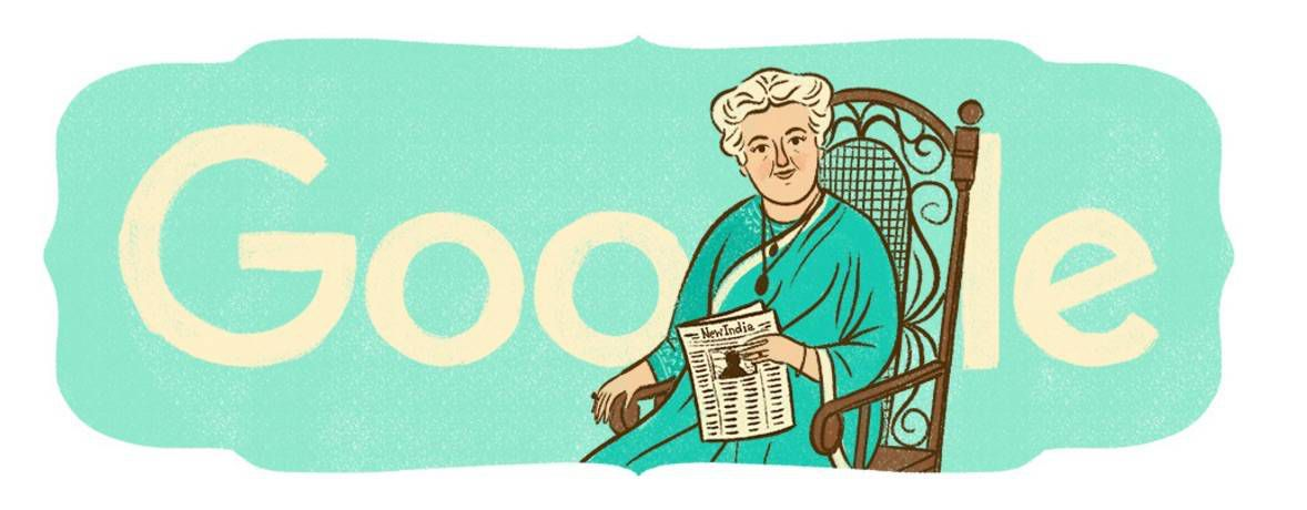 10:1:15 Annie Besant's 168th Birthday India