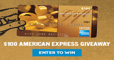 Giveaway 100 American Express Gift Card