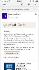 Goodreads Deals Mobile