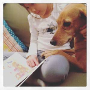Reading to the dog