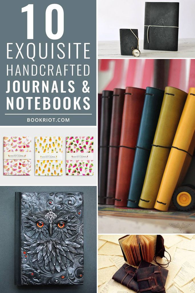 Get creative with these 10 gorgeous journals & notebooks form Etsy artisans!