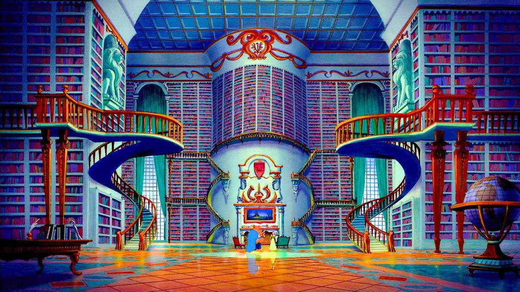 Image result for beauty and the beast library