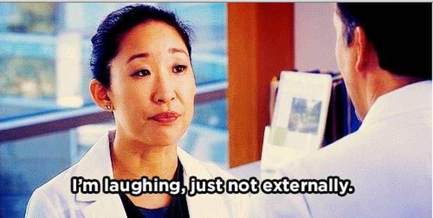 christina yang i'm laughing just not externally