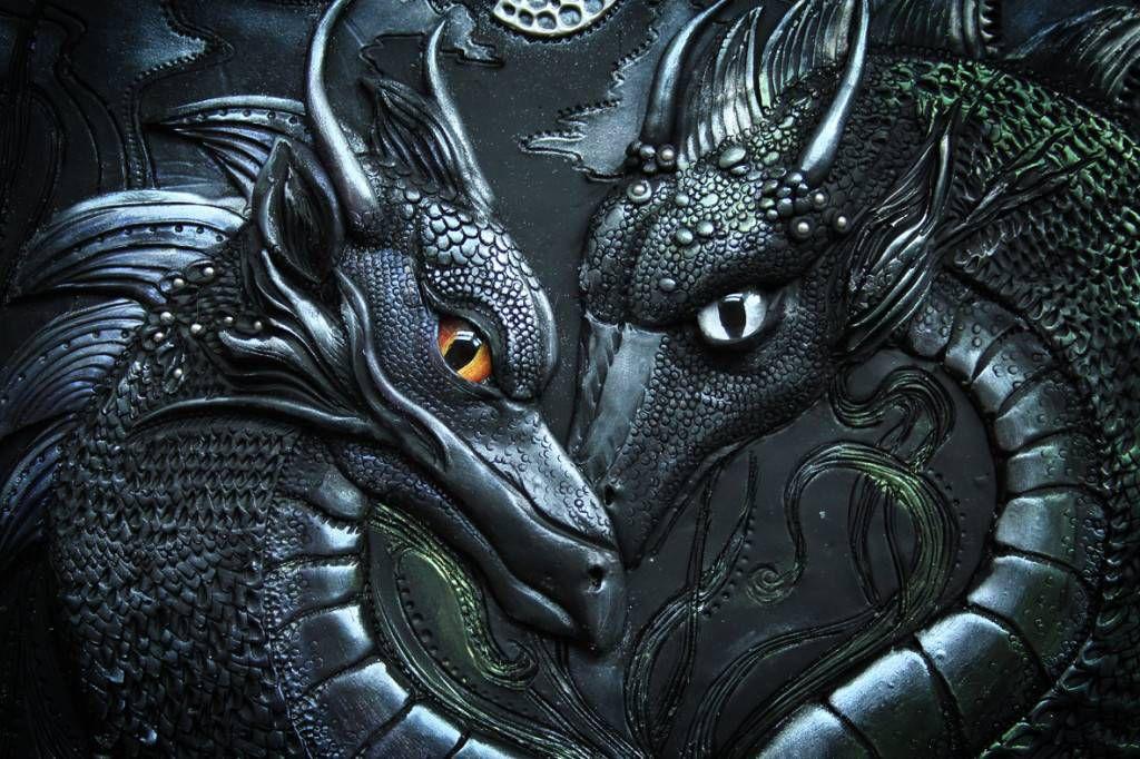 Polymer Clay Dragon Journal