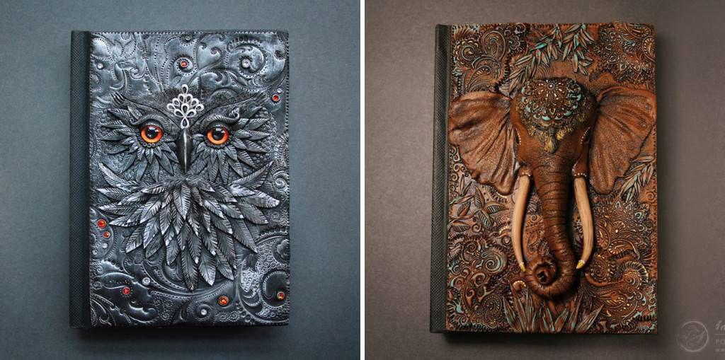 Custom Polymer Clay Journal by Mandarin Duck