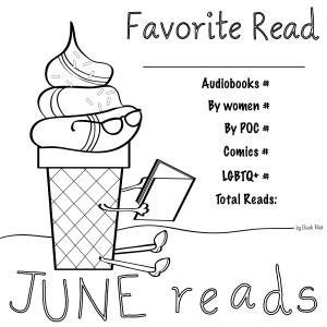 Printable Ice Cream June Reads Coloring Book