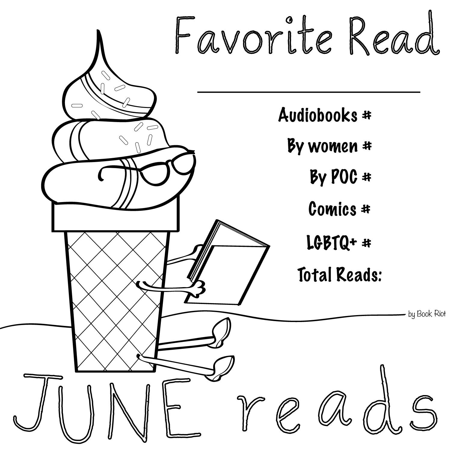 june coloring pages - get your crayons june reads coloring book page