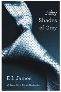 Book cover of Fifty Shades of Grey by E.L. James
