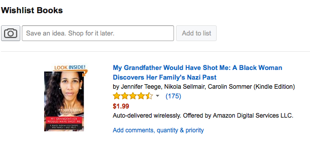 Amazon Wishlist for Jennifer Teege My Grandfather Would Have Shot Me