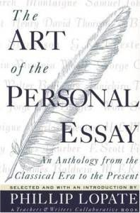 Art Personal Essay Lopate