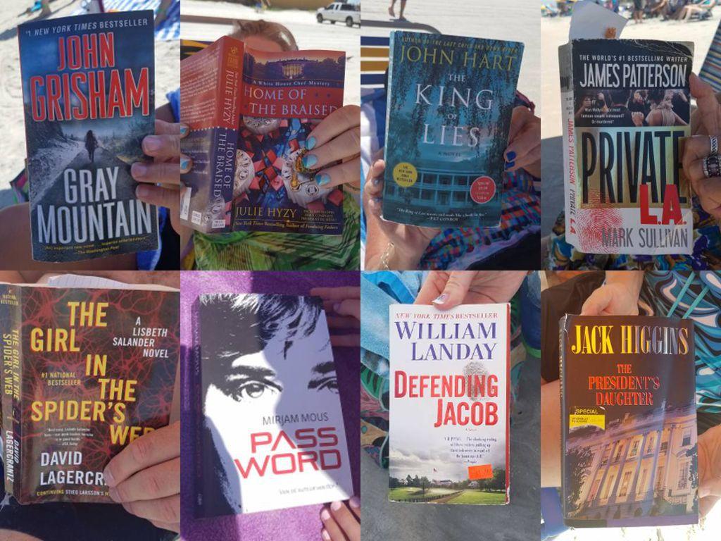 Mystery Thriller books at Daytona Beach