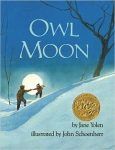 OWL MOON BY JANE YOLEN book cover