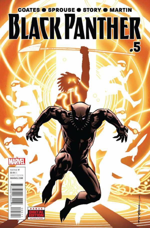 Black Panther #5 by Ta-Nehisi Coates and Chris Sprouse. Cover by Brian Stelfreeze
