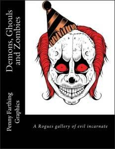 Demons Ghouls and Zombies Coloring Book