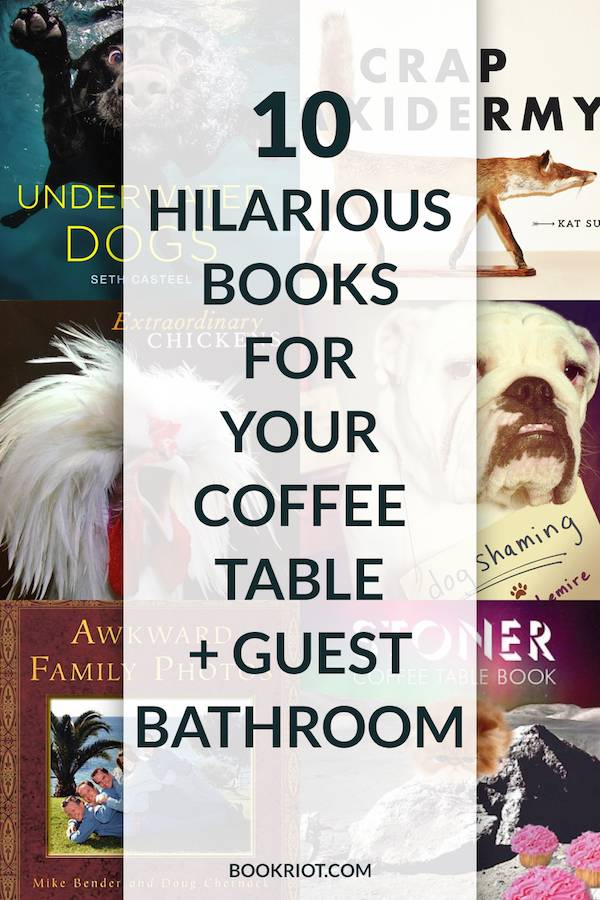 10 Hilarious Books for Your Coffee Table Guest Bathroom