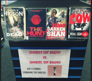 Zombie funny book display