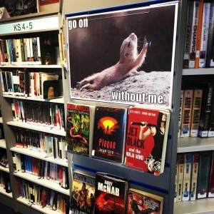 Teen Survival Fiction funny book displays
