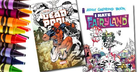 Get Your Coloring On With These Adult Book Comic Books