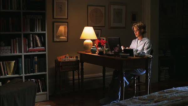 Kathleen Kelly at her desk in You've Got Mail