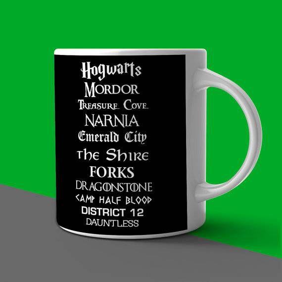 speculative fiction placename mug