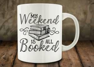 weekend booked mug