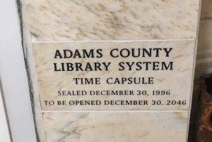 The Adams County Library System time capsule at Gettysburg Library