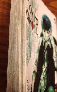 Dark page edges on Tokyo Ghoul vol 1