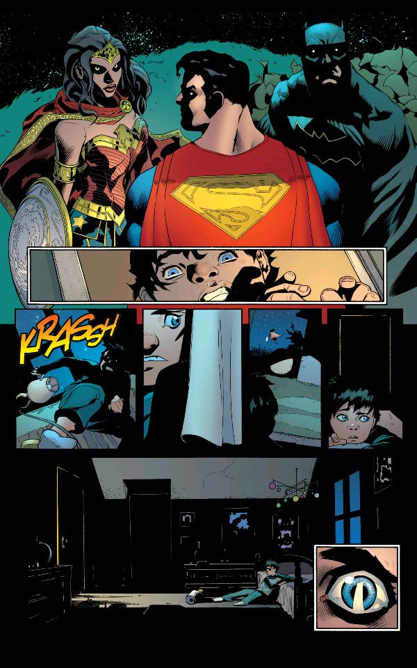 From Superman (2016) #1 by Peter J. Tomasi, Patrick Gleason, Mick Gray, John Kalisz, and Rob Leigh