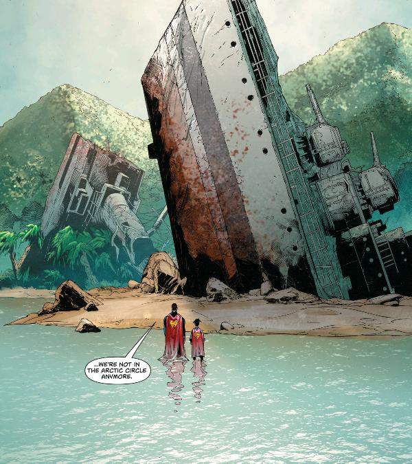From Superman #7, by Pete J. Tomasi, Patrick Gleason, Doug Mahnke, Jaime Mendoza, Wil Quintana, and Rob Leigh