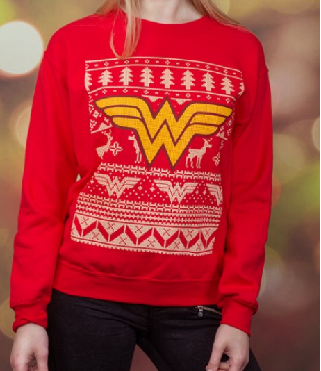 wonder woman unisex christmas sweaterjumper