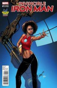 The controversial J. Scott Campbell variant cover in question.