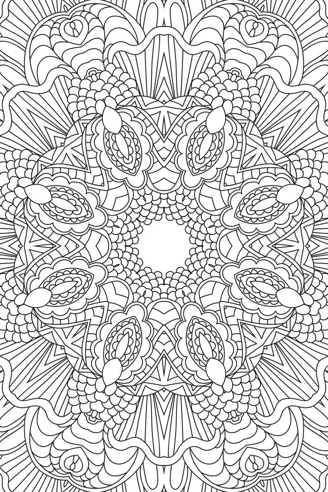 12 Coloring Pages To Destress On
