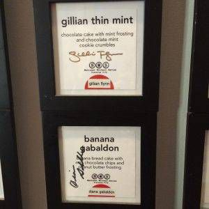 Gillian Flynn Diana Gabaldon Morsel autograph