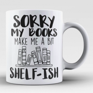 book shelf-ish mug