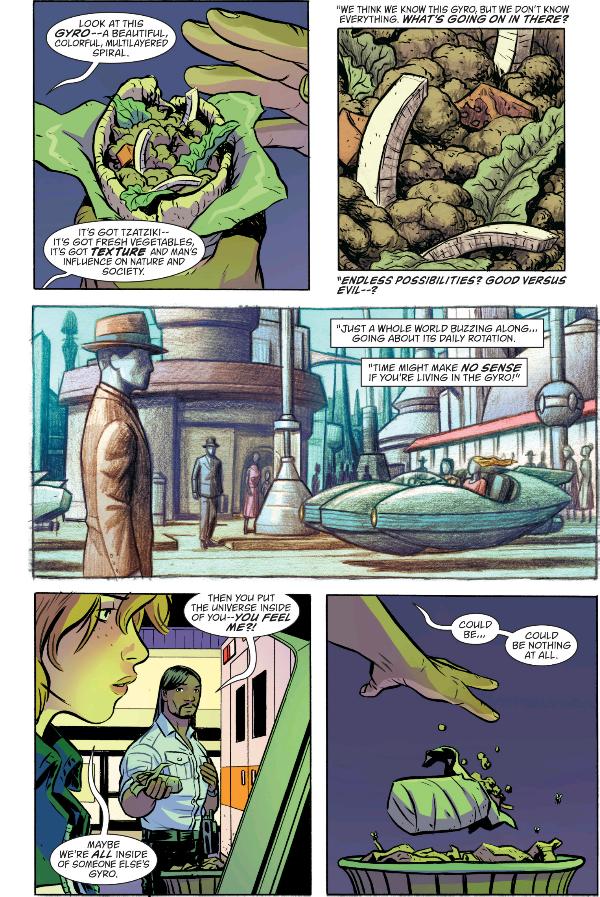 From Doom Patrol #1 by Gerard Way, Nick Derington, and Tamra Bonvillain