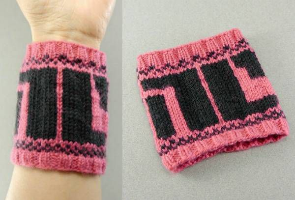 An amazing NC 'noncomplient' wrist cuff pattern for fans of Bitch Planet.