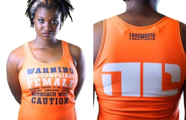 Bitch Planet non-complient workout tank from Frogmouth.