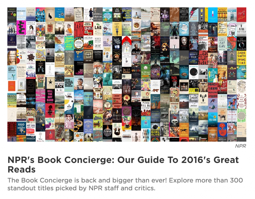 NPR Great Book Concierge