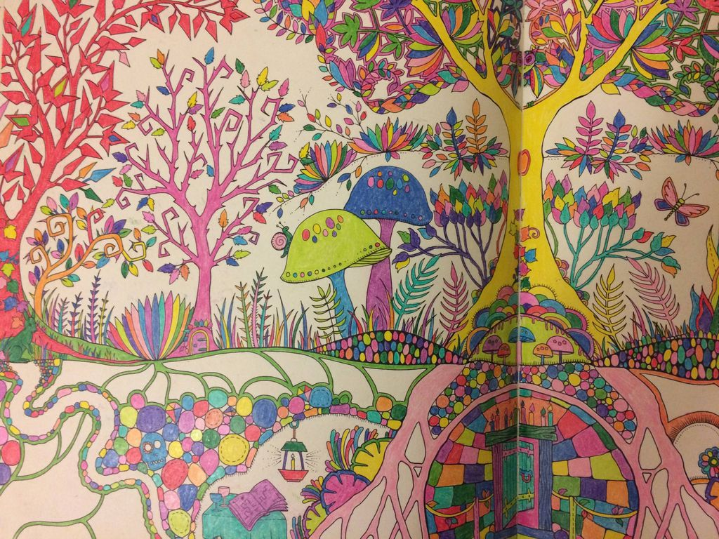 A page from my coloring book. Embrace all those colors!