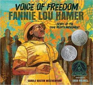 cover of Voice of Freedom: Fannie Lou Hamer by Carole Boston Weatherford