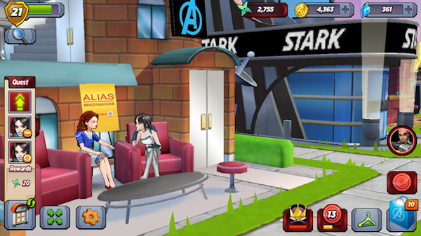 Where else can you see Peggy Carter and Jessica Jones hanging out?