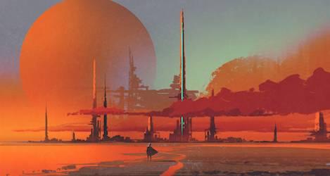Desert Slums Fantasy Art