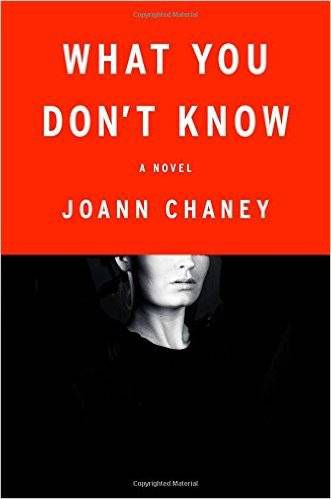 cover image: a black and white phot of a white woman faded into the black background with her eyes and forehead covered by a red background and the title of the book