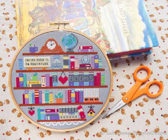 15 Bookish Cross Stitch Patterns for All Stitchers