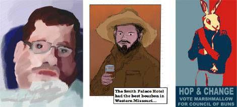 Nick Dupree's comic Art and self portrait