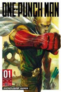 One-Punch Man volume 1 cover. Story by One & Art by Yusuke Murata. VIZ Media.