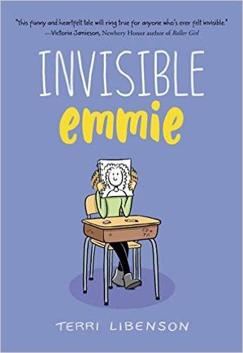 Invisible emmi by Terri Libenson book cover - books for 6th graders