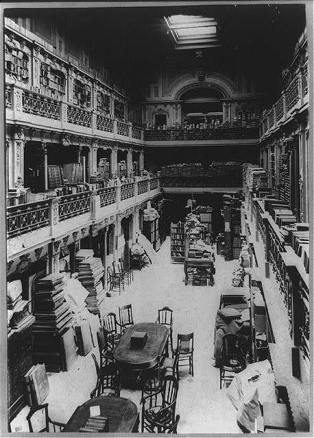Library of Congress in US Capitol Building c 1897