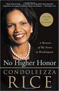 Book cover for no higher honor by condoleezza rice