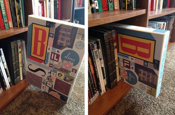 Image of the book Building Stories, which is too large for bookshelves